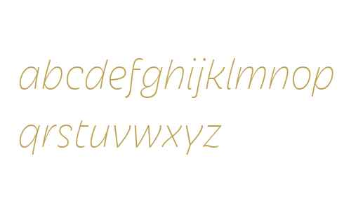 Iskra W04 Thin Italic