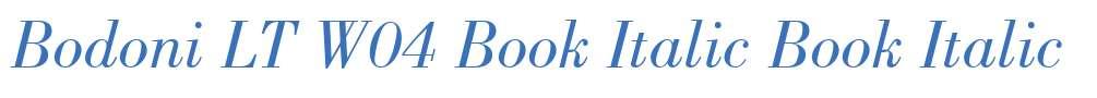 Bodoni LT W04 Book Italic