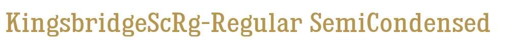 KingsbridgeScRg-Regular