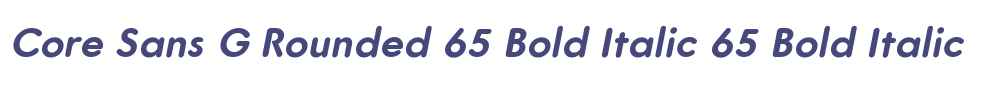 Core Sans G Rounded 65 Bold Italic