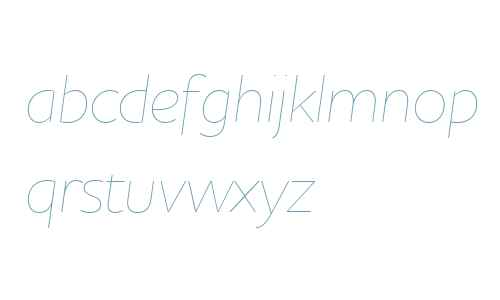Houschka Alt W03 Thin Italic