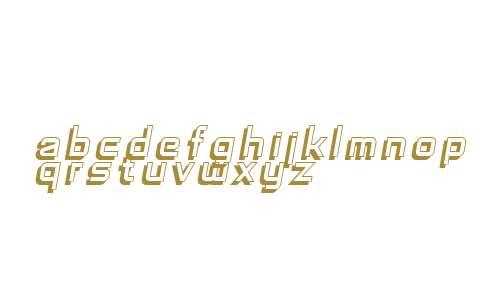 SF Fedora Titles Shadow Italic V2