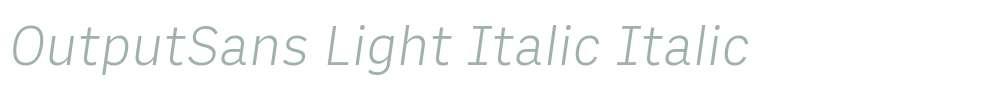 OutputSans Light Italic