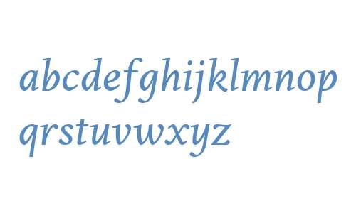 Edita W02 Small Text Italic