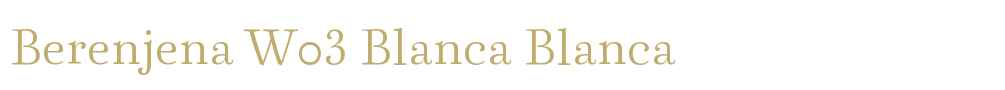 Berenjena W03 Blanca