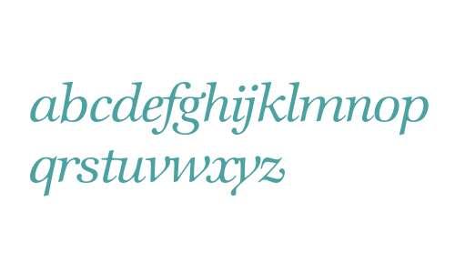 Zapf International* Medium Italic
