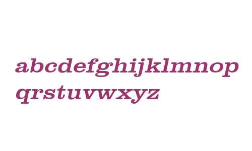 Clare Wide Italic