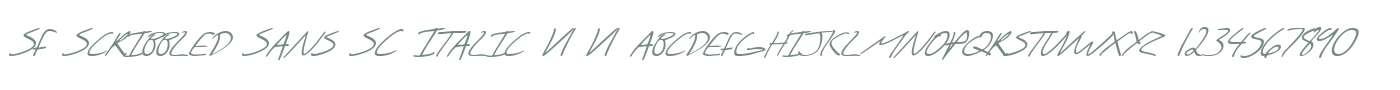SF Scribbled Sans SC Italic V1 V1