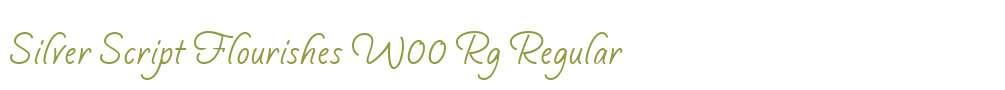 Silver Script Flourishes W00 Rg