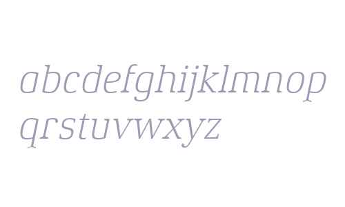 Xenois Serif W04 Light Italic