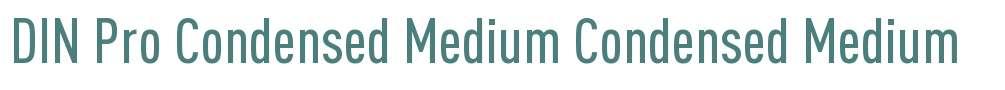 DIN Pro Condensed Medium