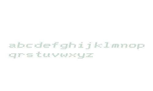 Telidon W00 Expanded Italic