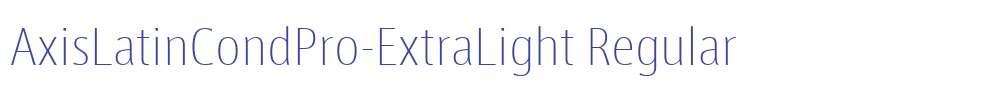 AxisLatinCondPro-ExtraLight