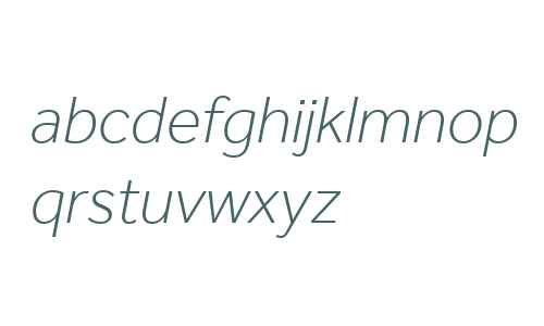 Effra W06 Light Italic
