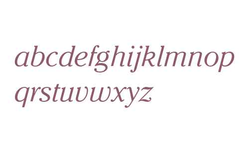 ITC Cheltenham Light Italic