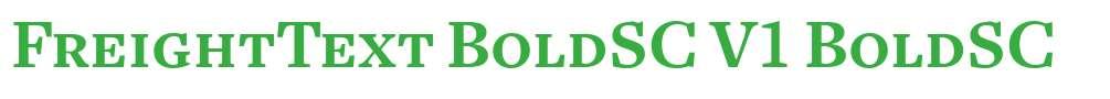 FreightText BoldSC V1