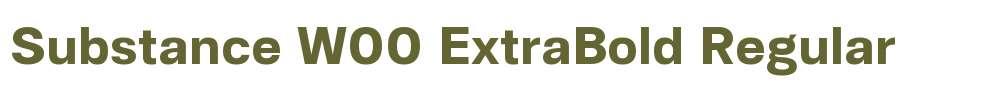 Substance W00 ExtraBold