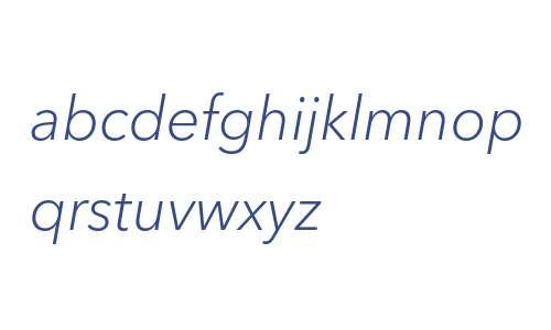 Avenir Next W05 Light Italic