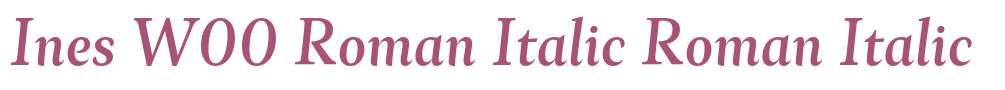 Ines W00 Roman Italic