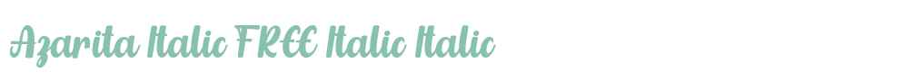 Azarita Italic FREE Italic