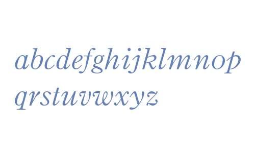 Binny Old Style MT Std Italic