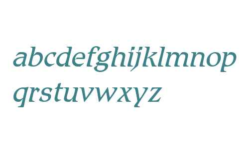 Romic W03 Light Italic