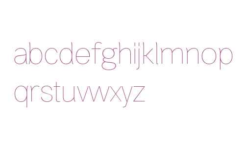 Bright Grotesk Thin