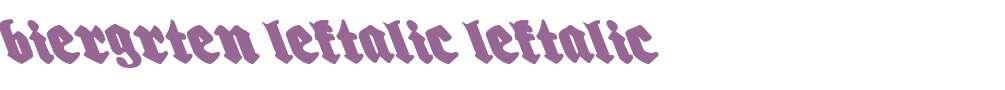 Biergrten Leftalic