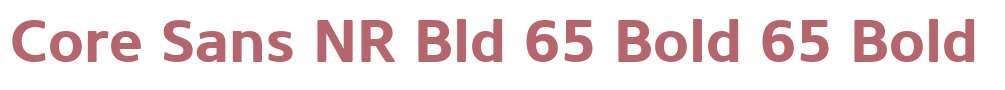 Core Sans NR Bld 65 Bold