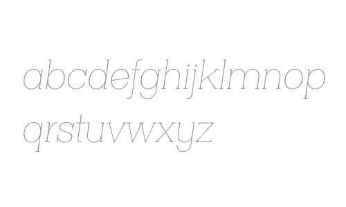 Clasica Slab W00 Thin Italic