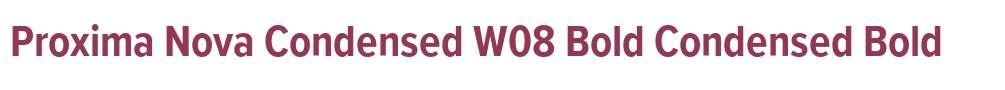 Proxima Nova Condensed W08 Bold
