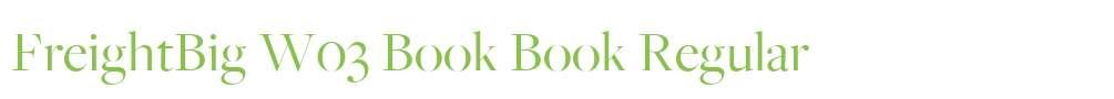 FreightBig W03 Book