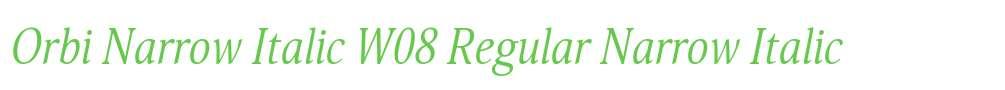 Orbi Narrow Italic W08 Regular