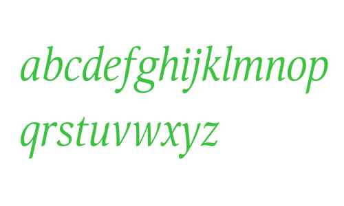 Orbi Narrow Italic W08 Regular