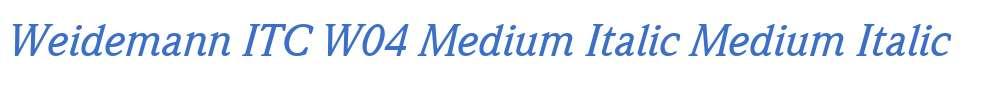Weidemann ITC W04 Medium Italic