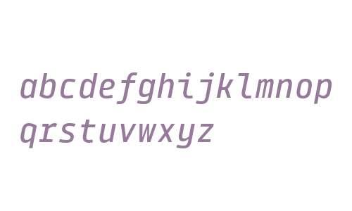Tabular Medium Italic