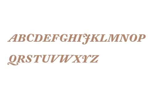 DTL Fleischmann D Bold Italic Caps