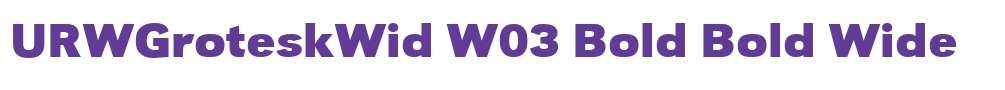 URWGroteskWid W03 Bold