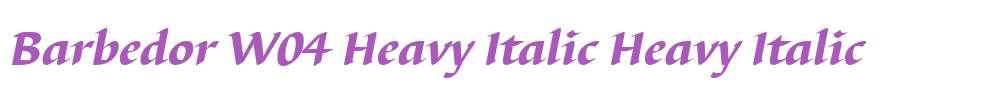 Barbedor W04 Heavy Italic