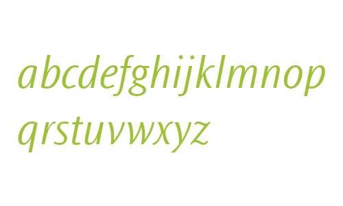 Ocean Sans MT W04 Light Italic