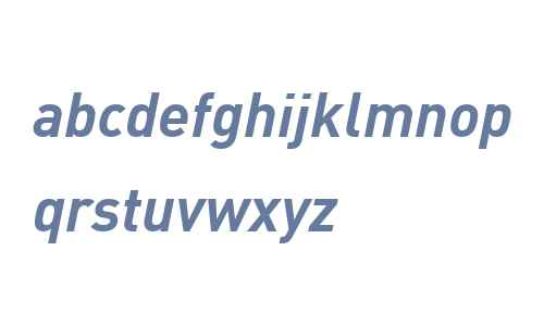 DIN Web W07 Bold Italic