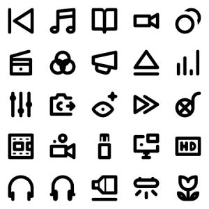 Audio Video Photo Tiny Icons