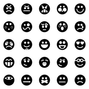 Emoticons And Smileys Dark