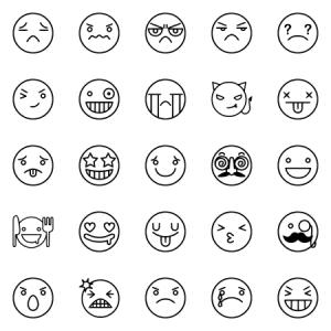 Line Emoticon Smiley
