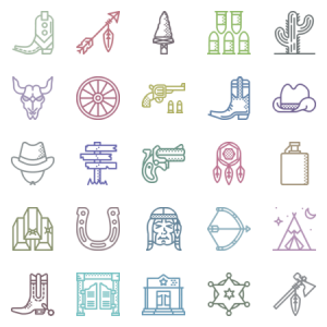 Smashicons Wild West Outline