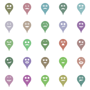Smiled Map Markers