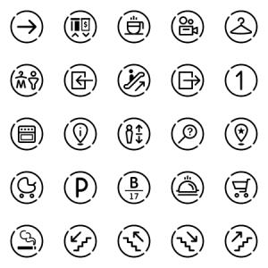 Wayfinding System Basic Icon Set
