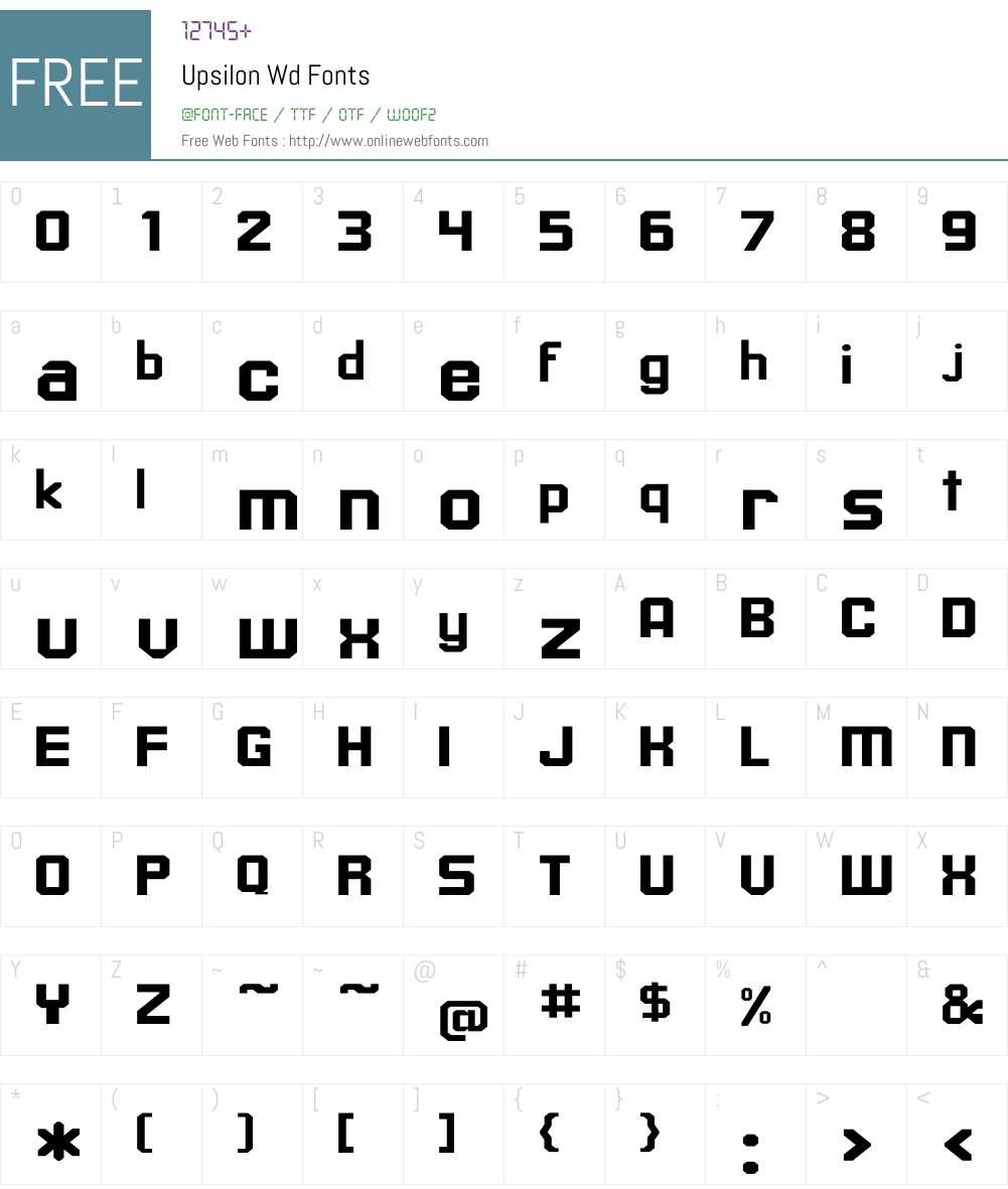 Upsilon Wd Font Screenshots