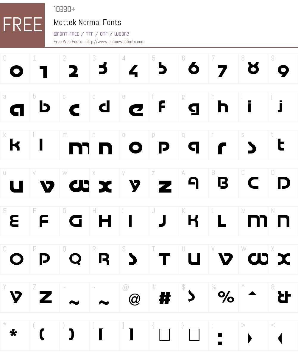 Mottek Font Screenshots