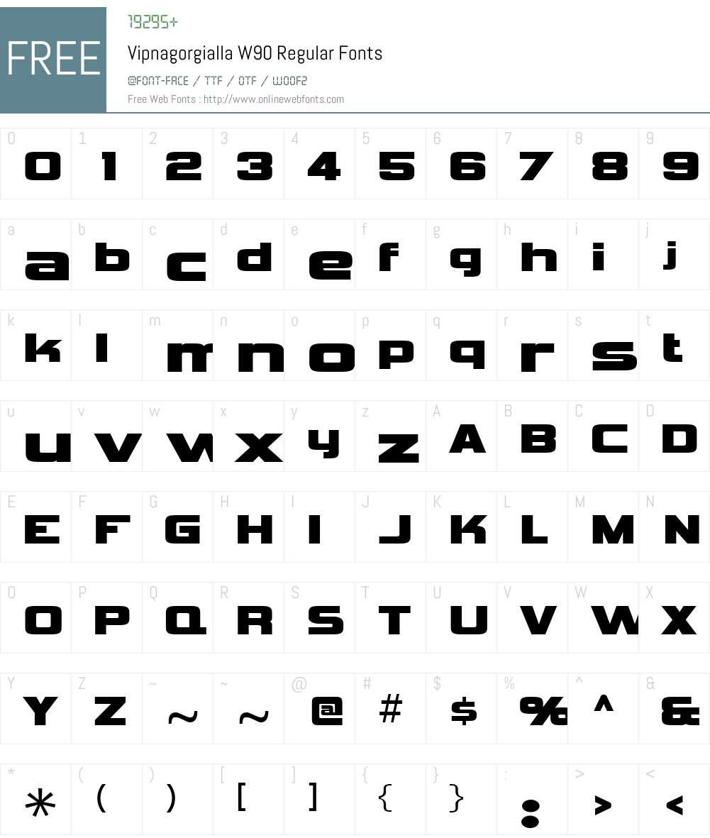 VipnagorgiallaW90-Regular Font Screenshots